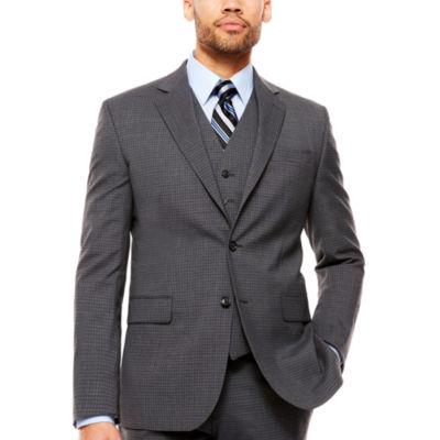 Stafford Checked Classic Fit Stretch Suit Jacket