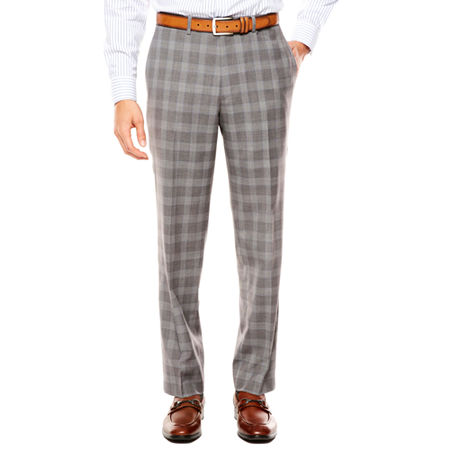 1960s Men's Clothing Collection by Michael Strahan Mens Plaid Classic Fit Suit Pants 42 30 Gray $84.00 AT vintagedancer.com