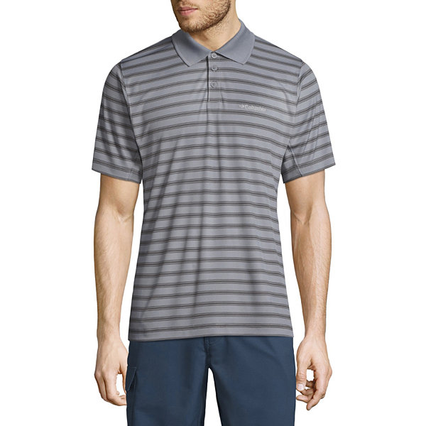 Columbia short sleeve stripe knit polo shirt jcpenney for Jcpenney ladies polo shirts