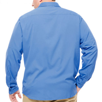 Columbia Sportswear Co. Long Sleeve Button-Front Shirt-Big and Tall