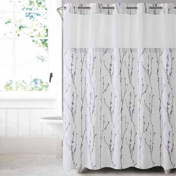 Hookless Cherry Bloom Shower Curtain with PEVA Liner - JCPenney