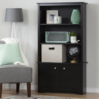 Vito 3-Shelf Bookcase with Doors