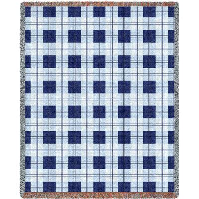 Blueberry Plaid Blanket