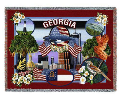 State Of Georgia Blanket