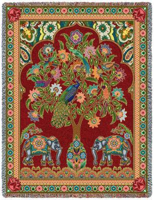 Asian Elephants Blanket