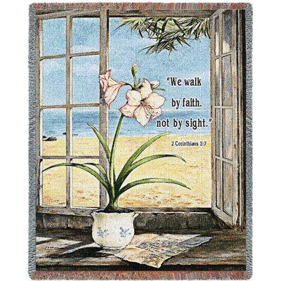 Ocean Amaryllis Tapestry Blanket