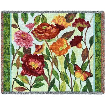 Poppy Garden Tapestry Blanket