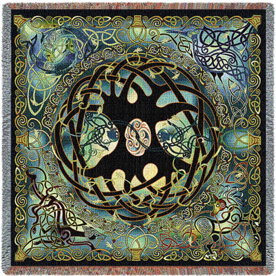 Celtic Tree of Life Tapestry Small Blanket