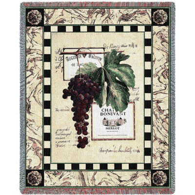 Grapes and Labels IV Blanket