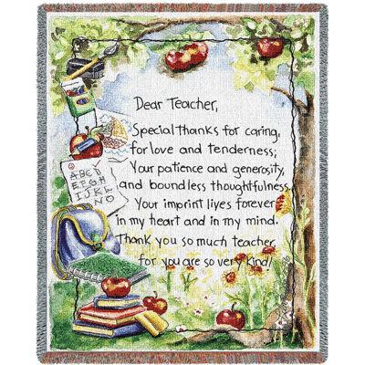 Dear Teacher Blanket