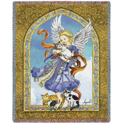 Angel and Cats Blanket