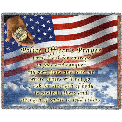 Police Officers Prayer Blanket