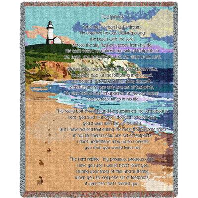 Footprints Watercolor Blanket