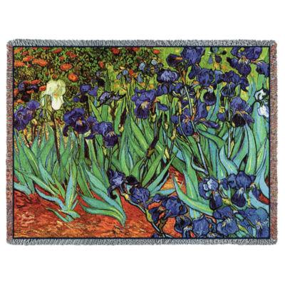 Irises Van Gogh  Blanket