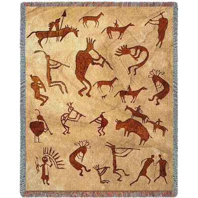Kokopelli Petroglyphs Blanket