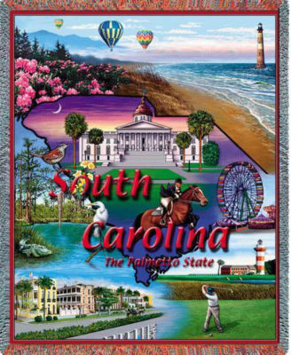South Carolina Tapestry Blanket