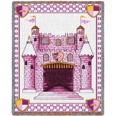 Castle Pink Small Blanket