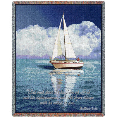 Sailboat Scripture Blanket