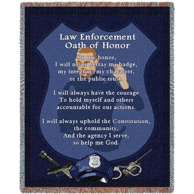 Police Oath Blanket