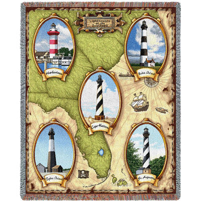 Lighthouses of the Southeast II Blanket