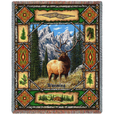 Wyoming Elk Lodge Blanket