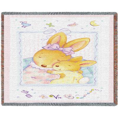 Baby Bunny Hugs Mini Blanket