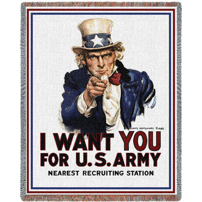 I Want You Uncle Sam Blanket