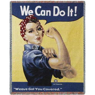 Rosie The Riveter Blanket