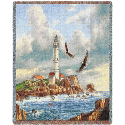 Boston Lighthouse Blanket