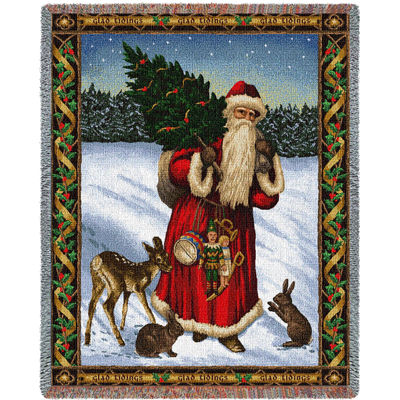 Father Christmas Red Blanket