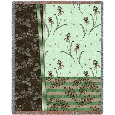 Botanical Swatches Jade Blanket