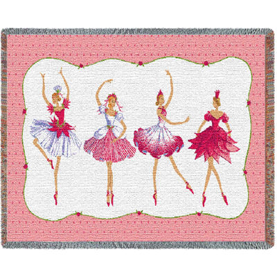 Four Ballerinas Tapestry Mini Blanket