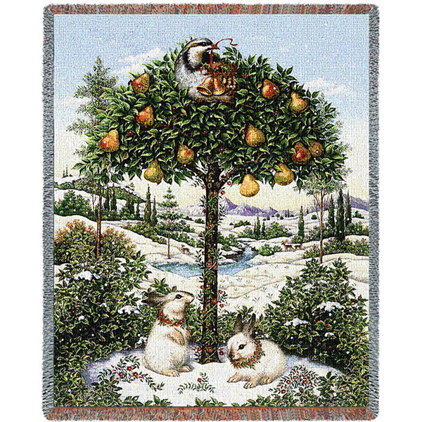 Partridge In A Pear Tree Blanket