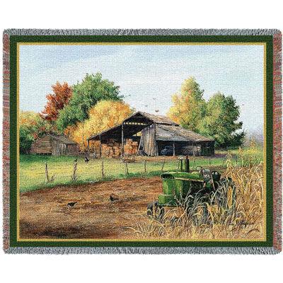 End Of Harvest Tapestry Blanket