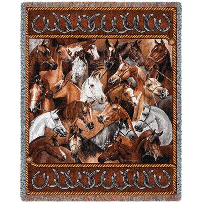 Bridled Horses Blanket