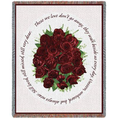 Memorial Red Roses Blanket