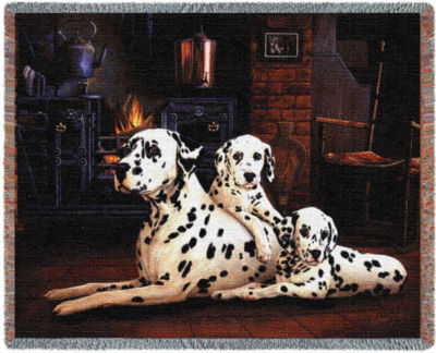 Dalmatian Tapestry Blanket