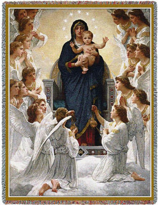 The Virgin with Angels Blanket