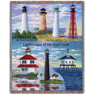 Lighthouses of the Gulf Coast Blanket