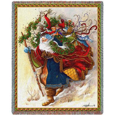 Windswept Santa Blanket