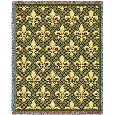 Fleur De Lis Tapestry Blanket