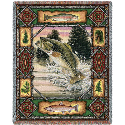 Fish Lodge Bass Blanket