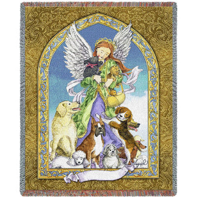 Angel and Dogs Blanket