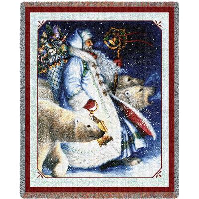 Santa and Polar Bears Blanket