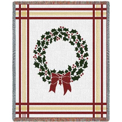 Christmas Wreath Blanket