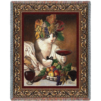 Bacchus Cat Blanket