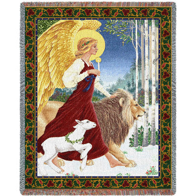 Angel and Lamb Blanket