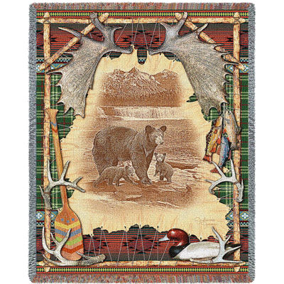 Antler Lodge Tapestry Blanket