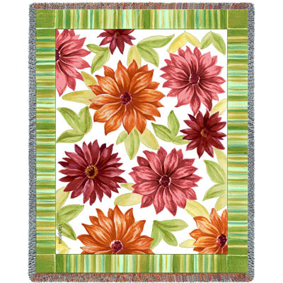 Dahlias Tapestry Blanket