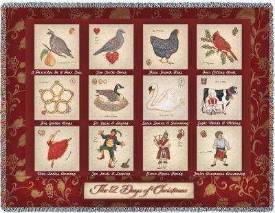 The Twelve Days of Christmas Blanket